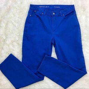 Talbots Jeans Heritage Slim Ankle 12 Cobalt Blue
